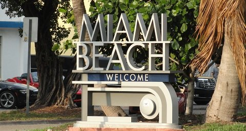 South Miami Beach Welcome Sign