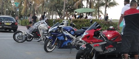 south beach miami ocean drive motorcycles